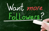 Want more followers? — Stock Photo