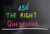 Ask the right questions — Stock Photo