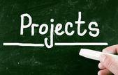 Koncepcja projektów — Zdjęcie stockowe