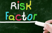 Risk factor concept — Stock Photo