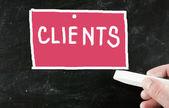 Clients concept — Stock Photo