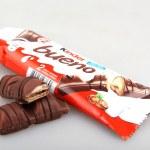 AYTOS, BULGARIA - APRIL 03, 2015: Kinder Bueno Chocolate Candy Bar. Kinder Bueno Is A Chocolate Bar Made By Italian Confectionery Maker Ferrero. — Stock Photo #69380779