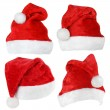 Set of Santa Claus red hats — Stock fotografie