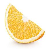 Slice of orange citrus fruit isolated on white — Stock Photo
