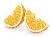 Slices of orange citrus fruit isolated on white — Stock Photo