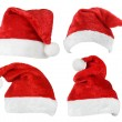 Set of Santa Claus red hats — Foto Stock #54796803