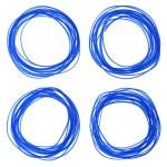 Felt pen hand drawn blue circle — Stock Photo #66772491
