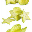 Carambola or starfruit with slices — Stock Photo #69438173