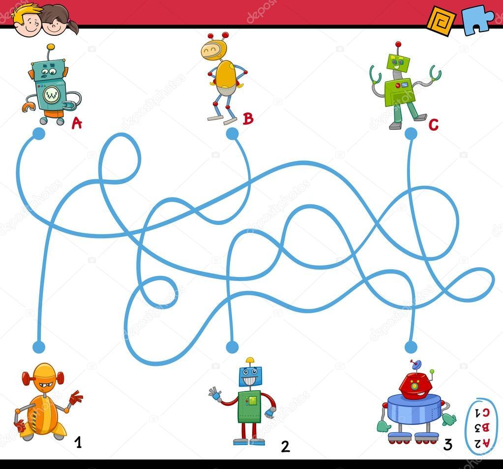 Puzzle Da Labirinto Per Bambini Da Scaricare Fipilstediga