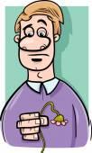 Sad man cartoon illustration — Stock Vector