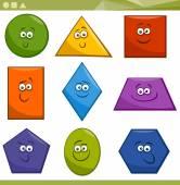 Cartoon Basic Geometric Shapes — Vetorial Stock