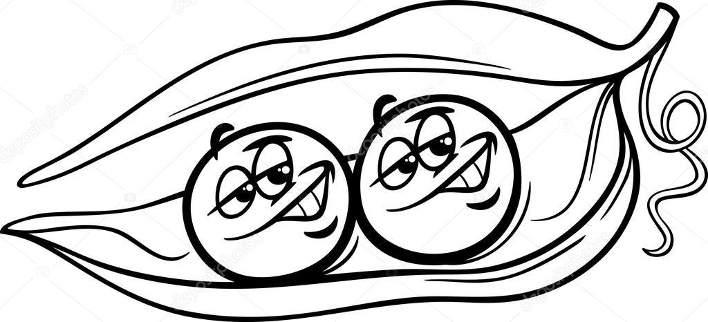 like two peas in a pod coloring page  u2014 stock vector  u00a9 izakowski  53516565