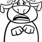 ������, ������: Crying dog cartoon coloring page