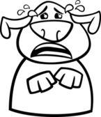 Crying dog cartoon coloring page — Stock Vector