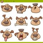 Dog emoticons cartoon illustration set — Stock Vector #53812667