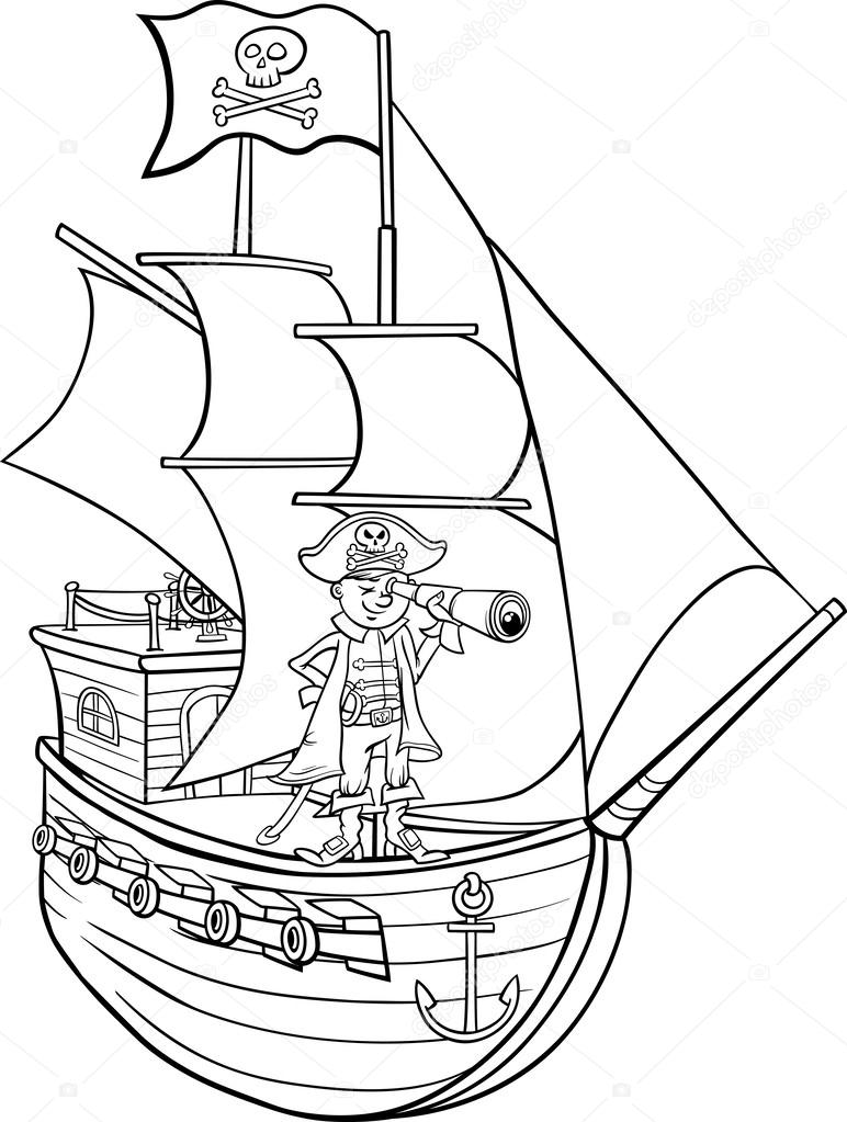Pirate flag coloring pages