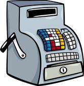 Till or cash register cartoon clip art — Stock Vector