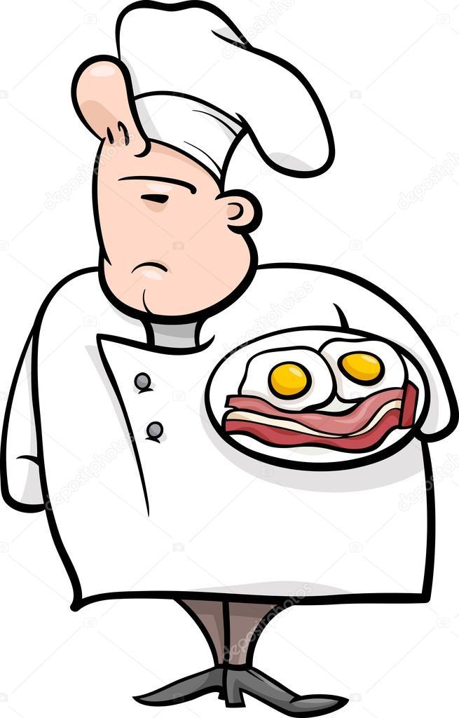 Englische koch karikatur illustration stockvektor for Koch auf englisch