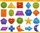 Cartoon basic geometric shapes — Stock Vector