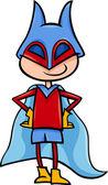 Superhero boy cartoon illustration — Stock Vector