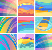 Background abstract pastel design set — Stock Vector