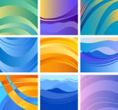 Background abstract design set — Stok Vektör