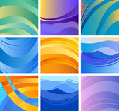 Background abstract design set — Stock vektor