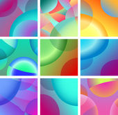 Background abstract glow design set — Stock Vector