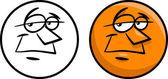 Character face cartoon illustration — Stockvektor