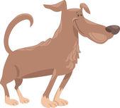 Funny dog cartoon illustration — Cтоковый вектор