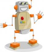 Fantasy robot cartoon illustration — Vetor de Stock