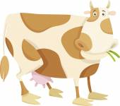 Cow farm animal cartoon illustration — Stock Vector