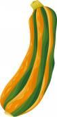 Zucchini vegetable cartoon illustration — Stock Vector