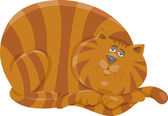 Fat cat character cartoon illustration — Stock Vector
