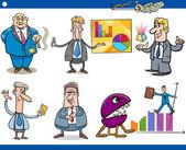 Zestaw cartoon biznesmenów koncepcja — Wektor stockowy