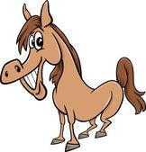 Farm horse cartoon illustration — Stock Vector