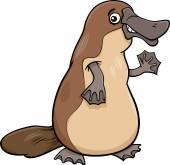 Platypus animal cartoon illustartion — Stock Vector