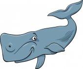 Whale animal cartoon illustartion — Stok Vektör