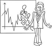 Economic crisis cartoon illustration — Stock Vector