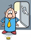 Bankrupt businessman cartoon — Stock Vector