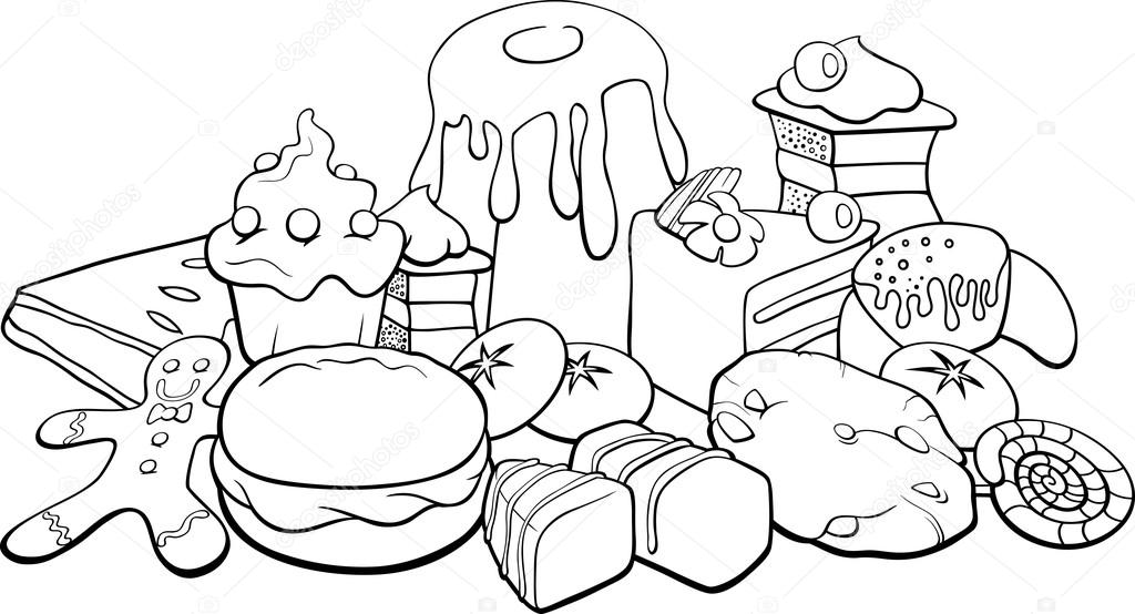 Gingerbread cookies coloring pages