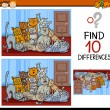 Finding differences game cartoon — Stock Vector #65933589