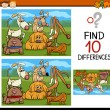 Finding differences game cartoon — Stock Vector #65933681