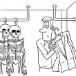 Skeletons in the closet cartoon — Stock Photo #66434719