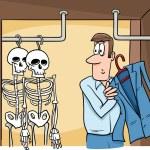 Skeletons in the closet cartoon — Stock Photo #66434727