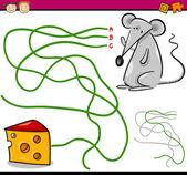 Path or maze cartoon game — Stockvektor