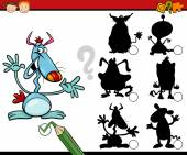 Education shadows game cartoon — ストックベクタ