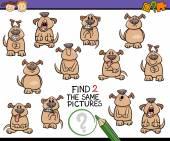 Trouver la même caricature jeu photo — Vecteur