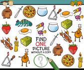 Find single picture game cartoon — Stockvektor