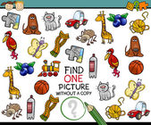 Find single picture game cartoon — Stock Vector